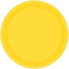 "Yellow Sunshine Paper Plates, 9"""