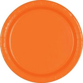 "Orange Peel Paper Plates, 9"" 20ct"