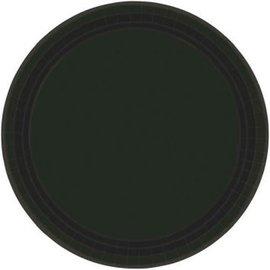 "Jet Black Paper Plates, 9"""