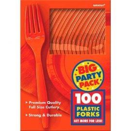 Big Party Pack Orange Peel Plastic Forks, 100ct