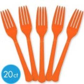 Orange Peel Premium Heavy Weight Plastic Forks 20ct