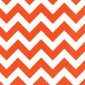 Orange Peel Chevron Beverage Napkins 16ct.