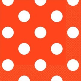 Orange Peel Dots Beverage Napkins-16ct