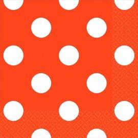 Orange Peel Dots Beverage Napkins-16ct