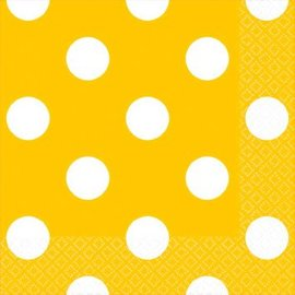 Yellow Sunshine Dots Beverage Napkins 16ct.