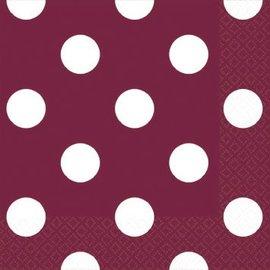 Berry Dots Beverage Napkins 16ct.