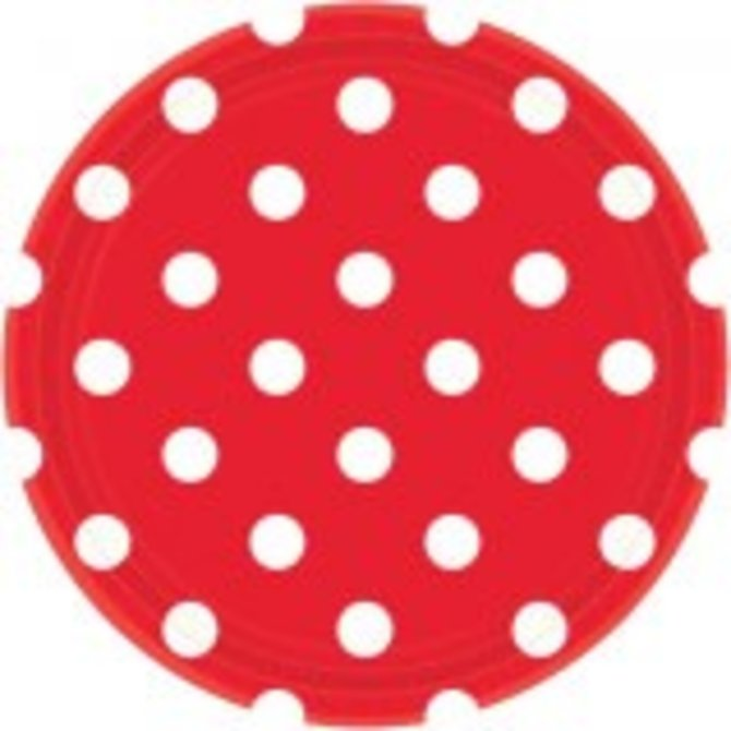 """Apple Red Dots, 9"""" Plates 8ct"""