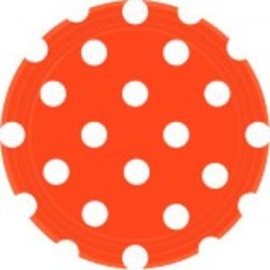 "Orange Peel Dots, 7"" Round Plates"