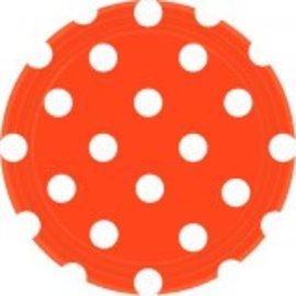 """Orange Peel Dots, 7"""" Round Plates"""