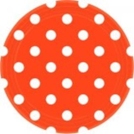 "Orange Peel Dots, 9"" Round Plates 8ct"