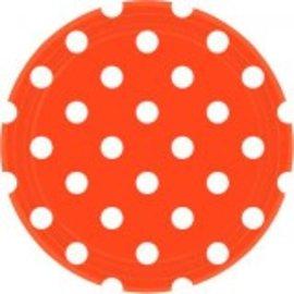 """Orange Peel Dots, 9"""" Round Plates 8ct"""