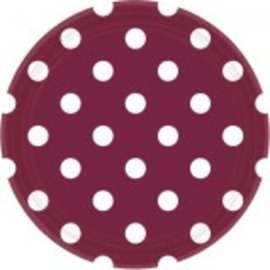 """Berry Dots, 9"""" Round Plates  8ct"""