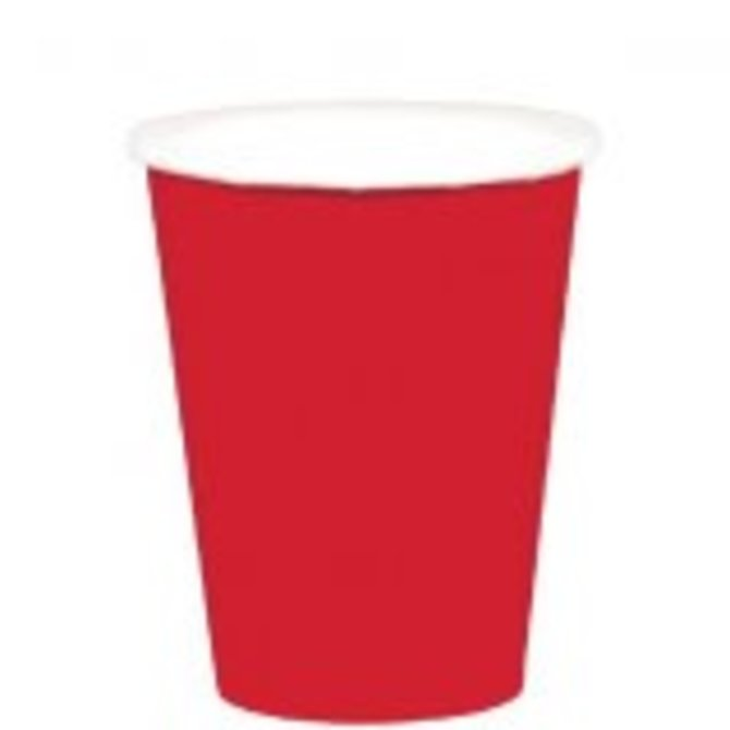 Apple Red Paper Cups, 9oz.