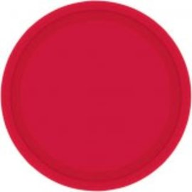 "Apple Red Paper Plates, 9"" 20ct"