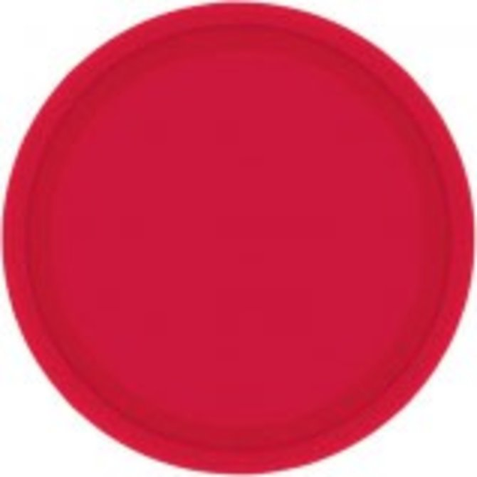 """Apple Red Paper Plates, 9"""" 20ct"""