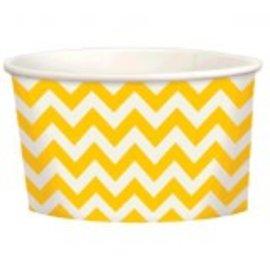 Chevron Paper Treat Cups ‑ Yellow Sunshine, 9.5oz, 20ct