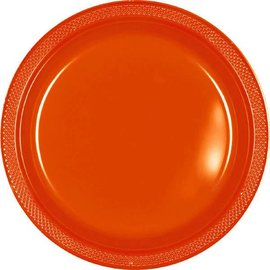 "Orange Peel Plastic Plates, 9"" 20ct"