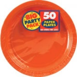 "Orange Peel Big Party Pack Paper Plates, 7"" 50ct"
