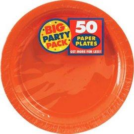 "Orange Peel Big Party Pack Paper Plates, 9"" 50ct."