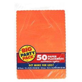 Orange Peel Solid Color Paper Placemats 50ct