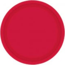 "Apple Red Paper Plates, 7"" 20ct"
