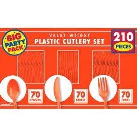 Orange Peel Value Window Box Cutlery Set, 210ct