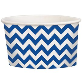 Royal Blue Chevron Treat Cups