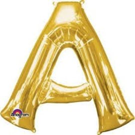 "16"" Letter A - Gold"