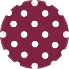 "Berry Dots, 7"" Round Plates  8ct"