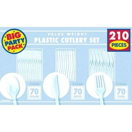 Clear Value Window Box Cutlery Set, 210ct