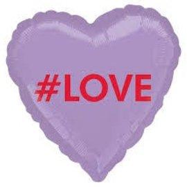 "#LOVE Conversation Heart Balloon, 18"""