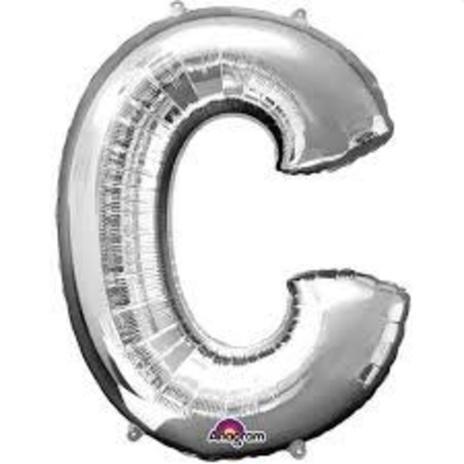 "16"" Letter C - Silver"