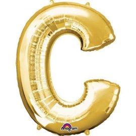 """16"""" Letter C - Gold"""