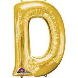 """16"""" Letter D - Gold"""