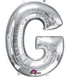 "16"" Letter G - Silver"