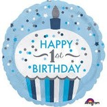 "Baby's 1st Birthday Blue Balloon, 18"""