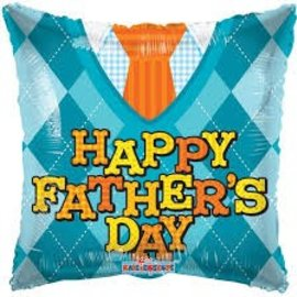 "Happy Father's Day Tie Balloon, 18"" (#11)"