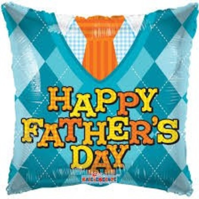 Happy Father's Day Tie Balloon, 18""
