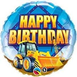 """Happy Birthday Construction Zone Balloon, 18"""""""
