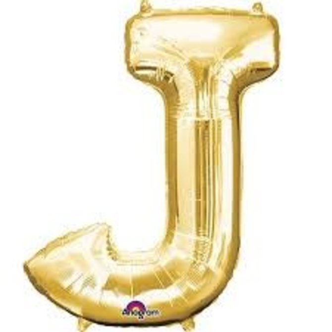 """16"""" Letter J - Gold"""