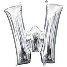 """16"""" Letter W - Silver"""