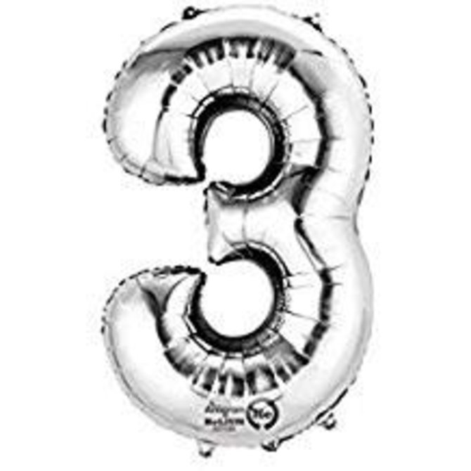 """16"""" Number 3 - Silver"""