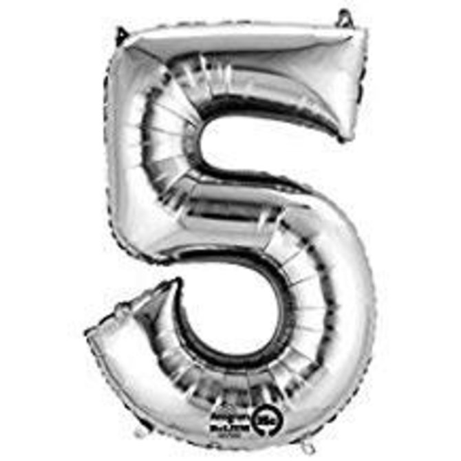 """16"""" Number 5 - Silver"""