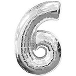 """16"""" Number 6 - Silver"""