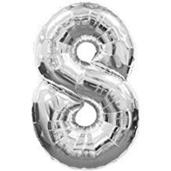 """16"""" Number 8 - Silver"""