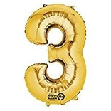 "16"" Number 3 - Gold"