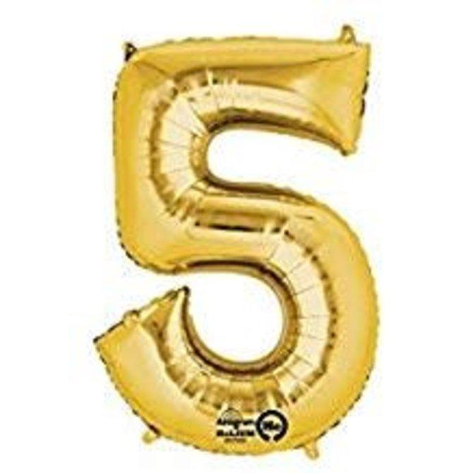"16"" Number 5 - Gold"