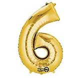 "16"" Number 6 - Gold"