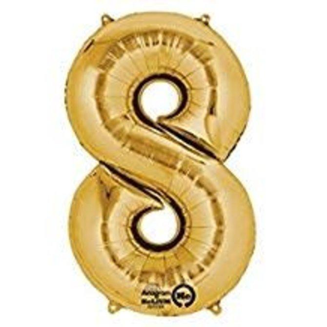 "16"" Number 8 - Gold"