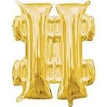 """16"""" Symbol Number Sign Gold"""
